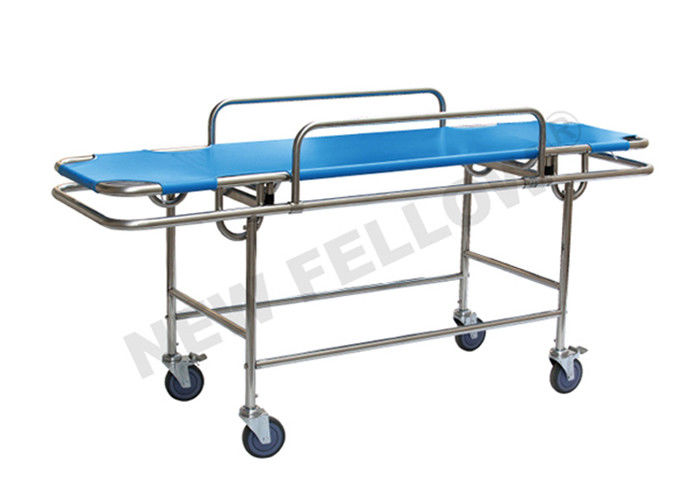 Detachable Stainless Steel Transport Patient Stretcher Trolley With Wheel