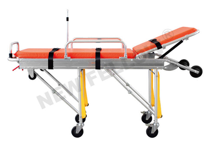 Foldable Lightweight Basic Emergency Ambulance Stretcher Cot for hospital