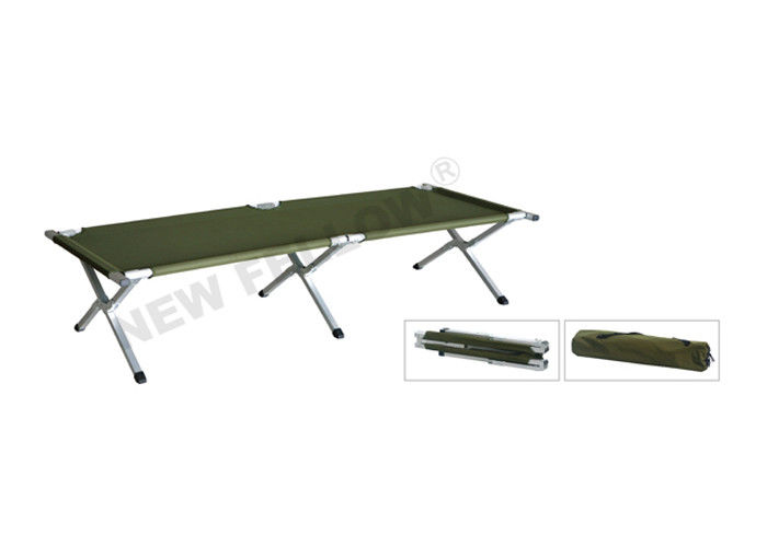 Oxford Leather Military Emergency Folding Stretcher , Double Folded Camping Bed