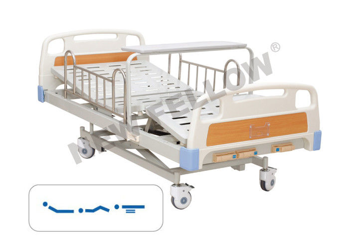 Luxury X - Frame Orthopedic Manual Mobile Hospital Bed With Aluminum Alloy Guardrail