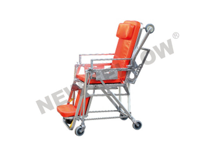 Ambulance Emergency Stair Stretcher , Orange Foldaway First Aid Stretcher
